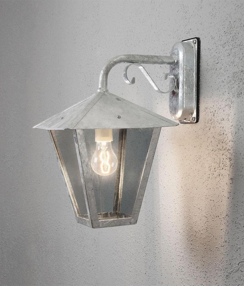 Galvanized Hanging Exterior Wall Lantern
