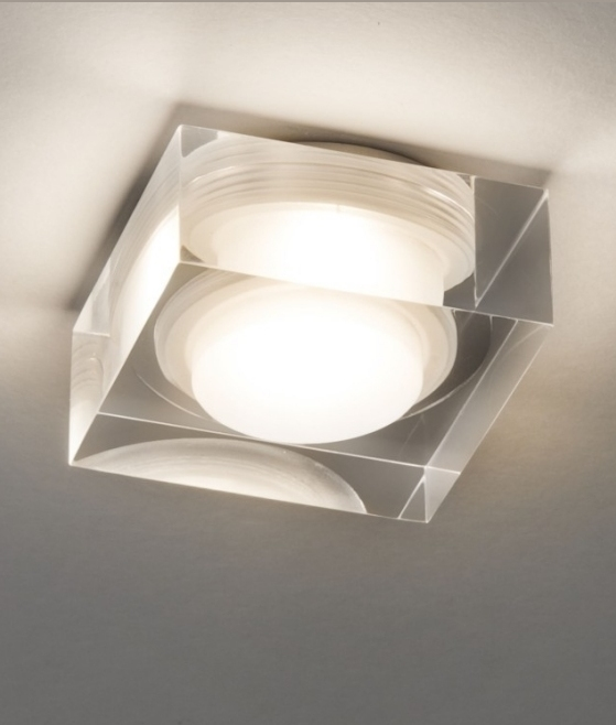 Square Glass Led Downlight Two Sizes