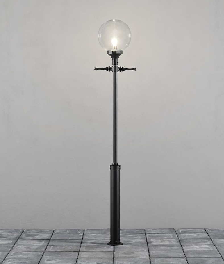 Clear Glass Shade Outdoor Lamp Post