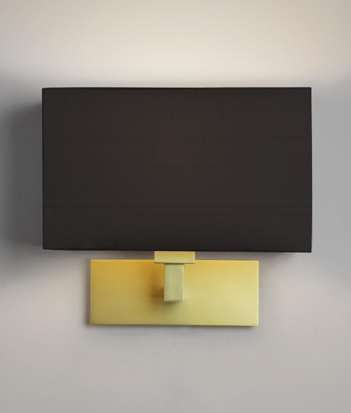 Matt Gold Wall Light And Shade