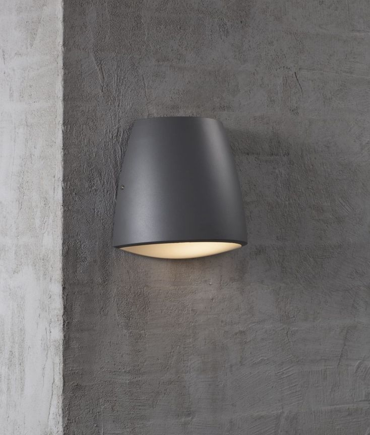 Curved Outdoor Ip44 Rated Wall Light, Modern Outdoor Wall Lights Anthracite Grey
