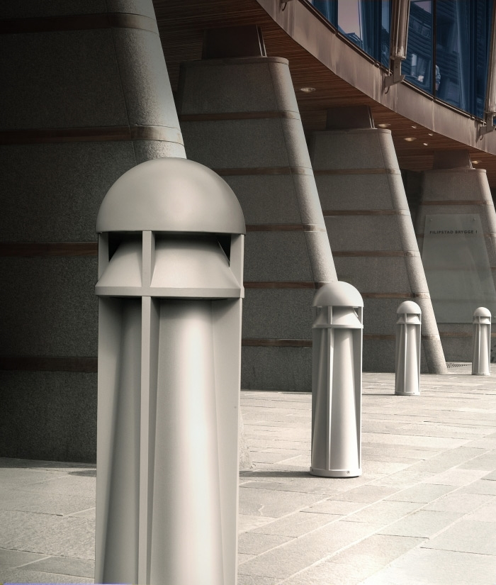 Rugged commercial bollard hit or cfl lamps aloadofball Images