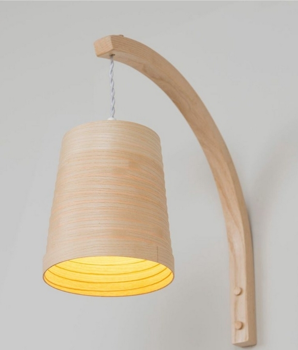 Wooden helix wall light by tom raffield aloadofball Images