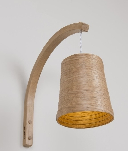 Wooden Helix Wall Light by Tom Raffield