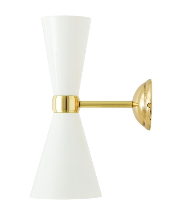 Brass Up And Down Wall Lights Outdoor : Hourglass Up and Down Elegant Wall light