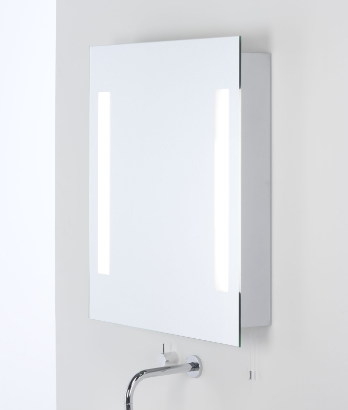 Illuminated Bathroom Cabinet With Shaver Socket 700mm X 600mm