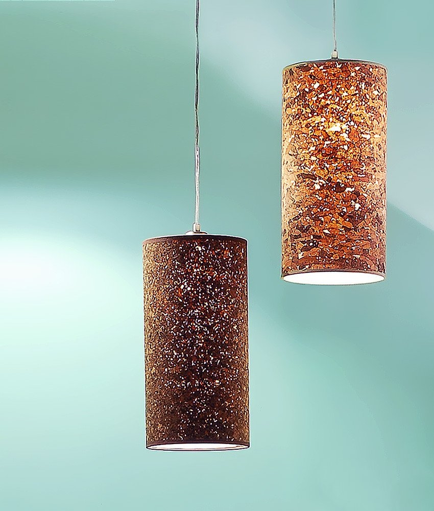 Cylindrical Cork Shade To Hang On Your Existing Flex