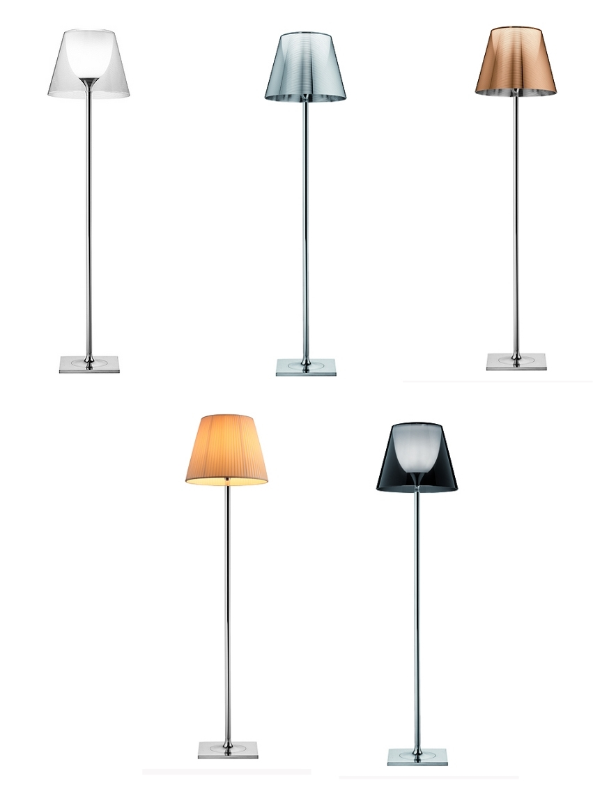 Flos ktribe f2 floor lamp ktribe f2 floor lamp by flos four shade colours plus pleated shade tap to expand aloadofball Choice Image