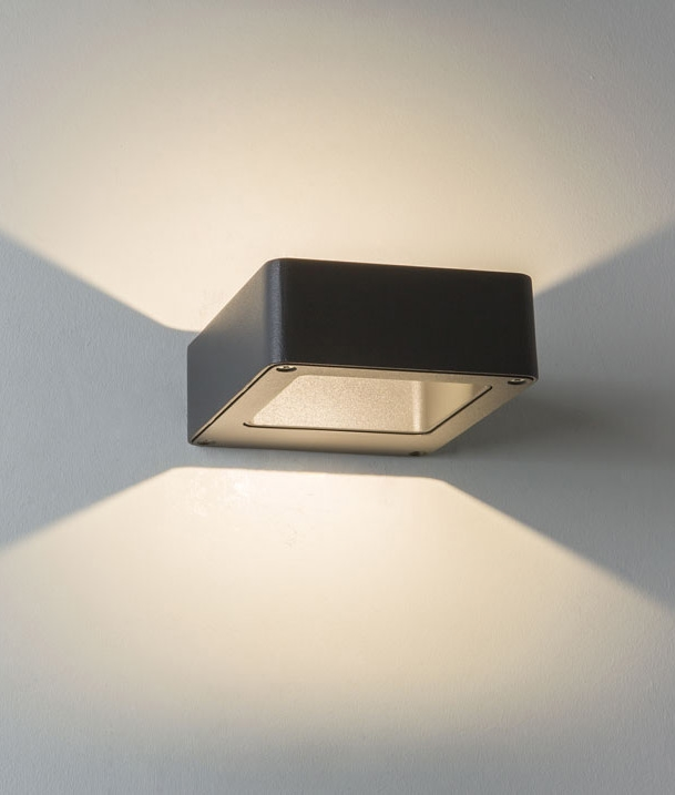 Exterior zero glare up down wall light for Exterior up down wall light