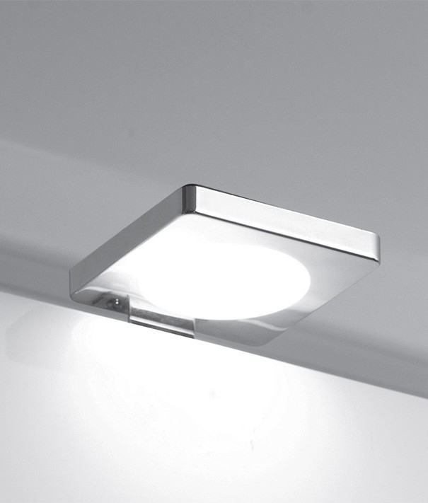 Modern Led Chrome Square Over Cabinet Light