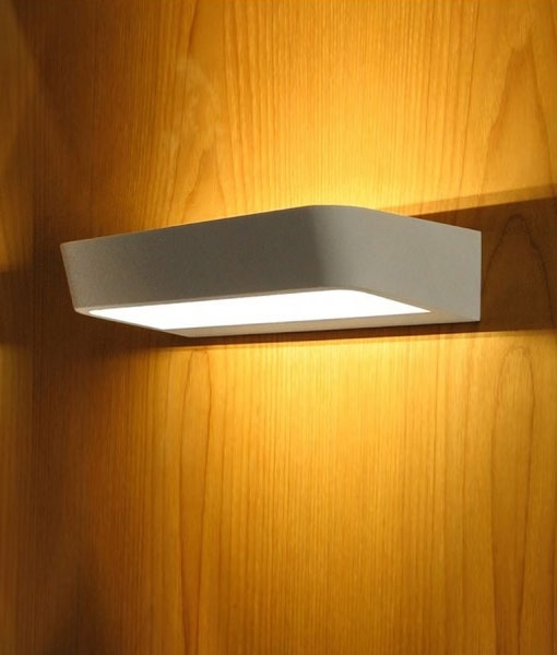 White Led Wall Fitting For Up And Down Light Distribution