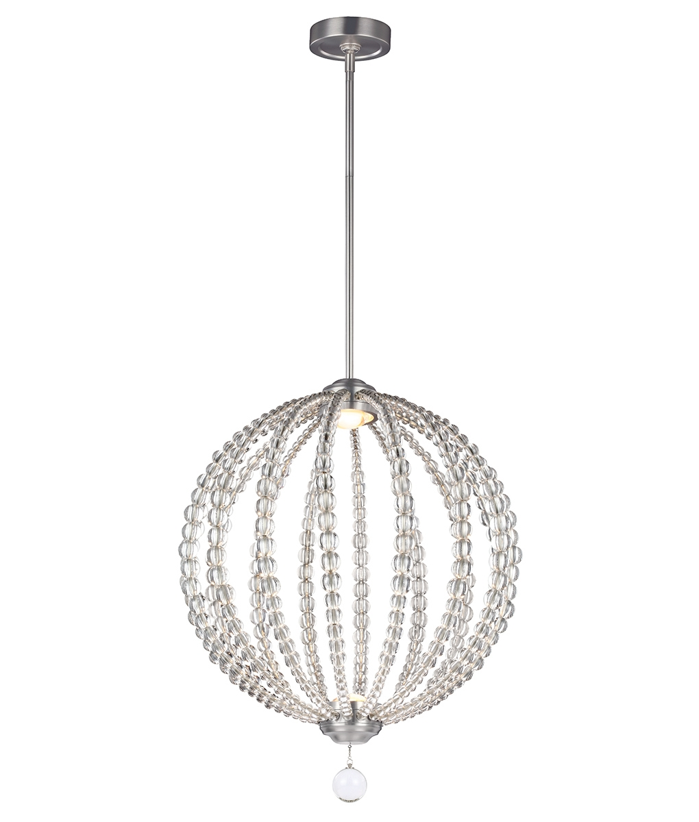 beaded globe drop pendants with led lamp