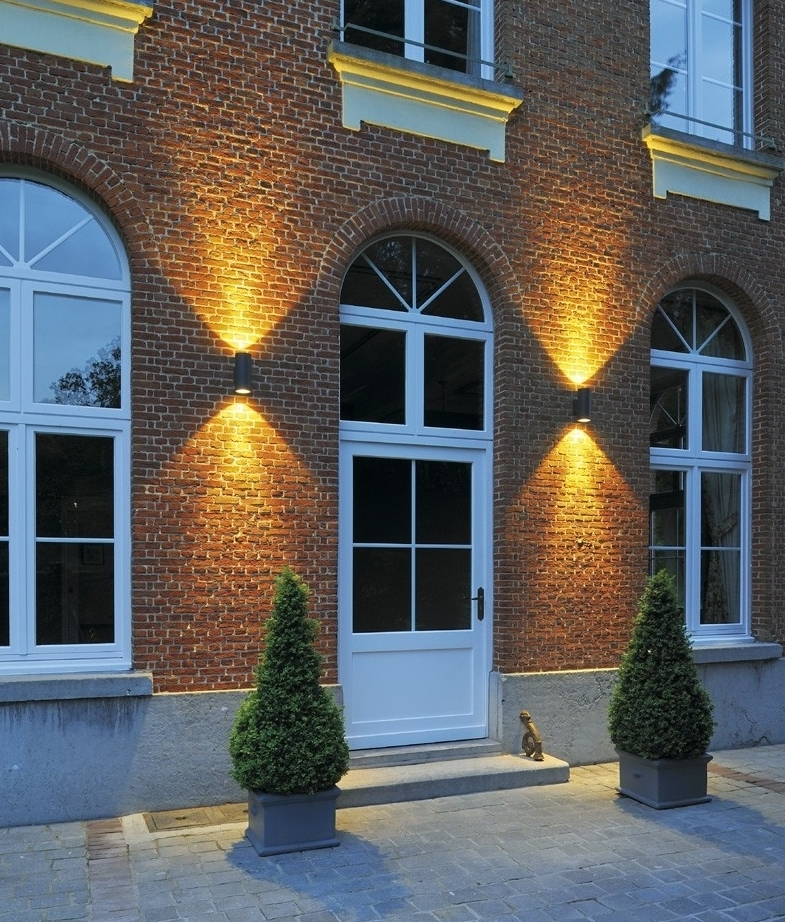 ip55 led exterior cylinder wall light up down. Black Bedroom Furniture Sets. Home Design Ideas