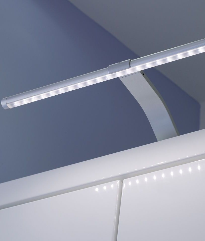 Slim LED Over Cabinet Light On Swan Neck Bracket