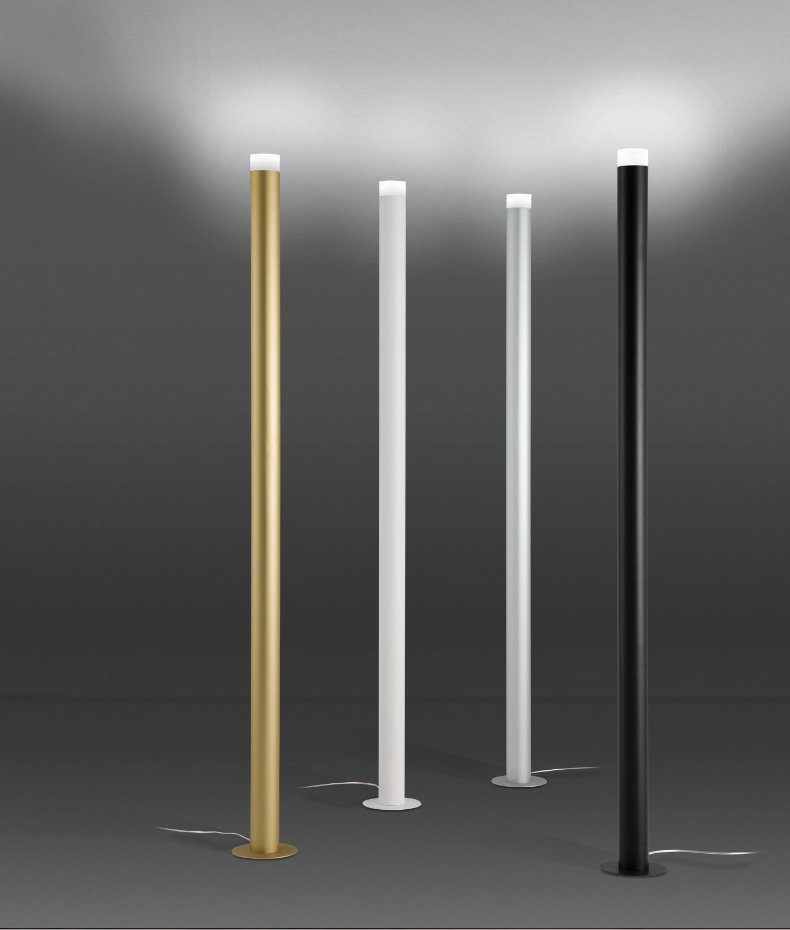 Slim Led Floorstanding Uplight In Four Colour Options