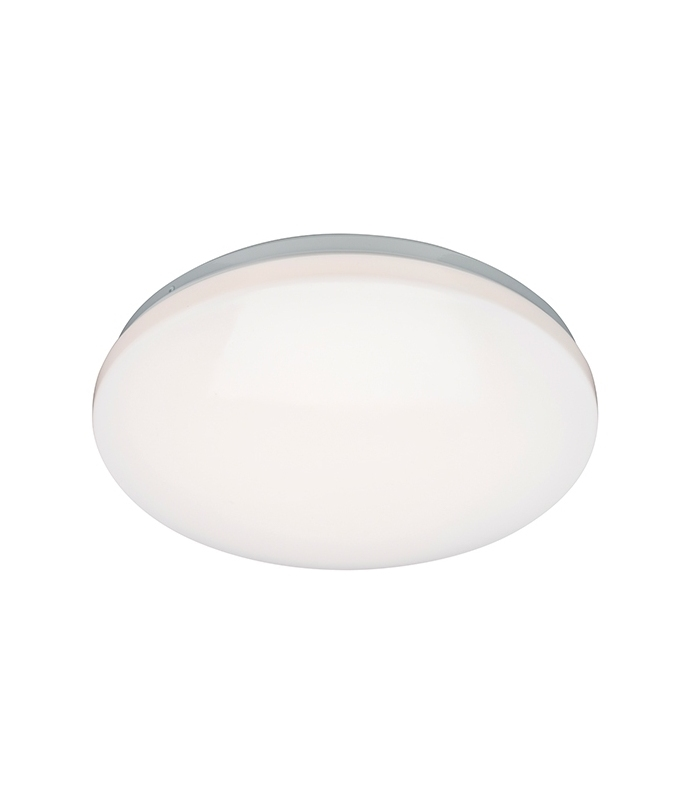 Round White Ceiling Light With Sensor For Outdoor Use