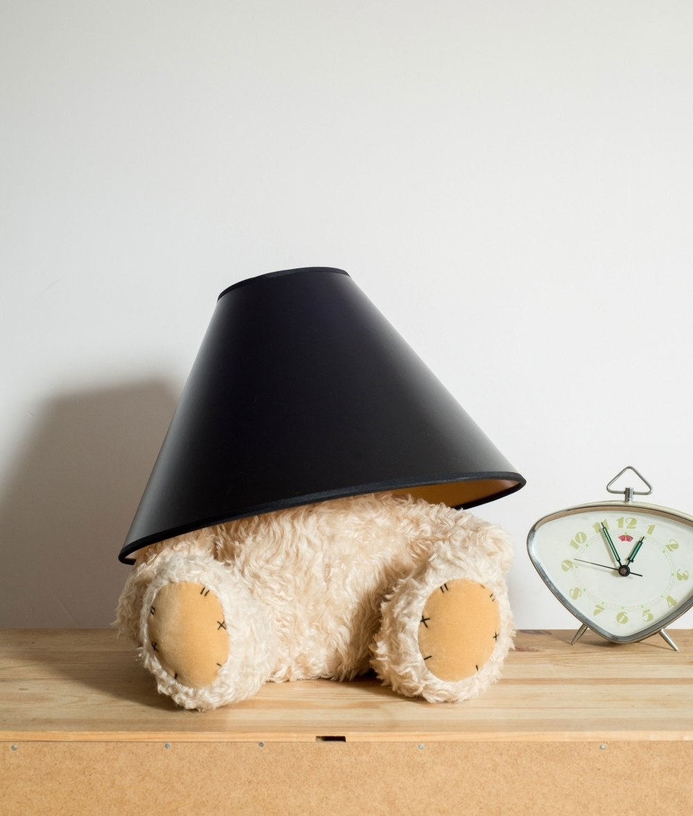 Teddy bear table lamp led bulb and shade hover to zoom geotapseo Choice Image