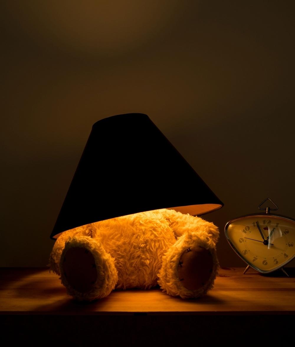 Teddy Bear Table Lamp Led Bulb And Shade