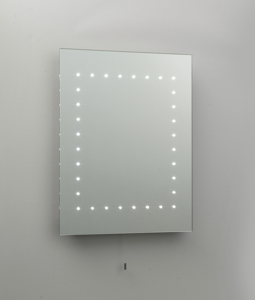 LED Bathroom Mirror With Pull Cord And Measuring 500mm X 390mm