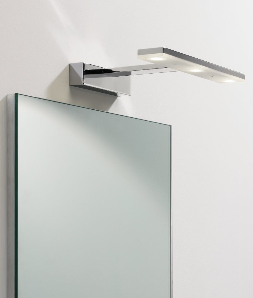 Led bathroom mirror light with adjustable head for Miroir ikea salle de bain