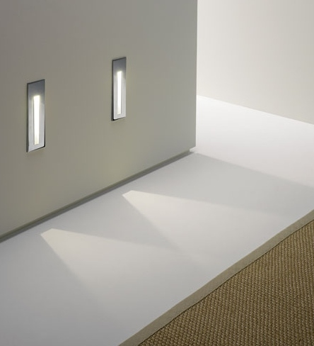 Tall Recessed LED Wall Light
