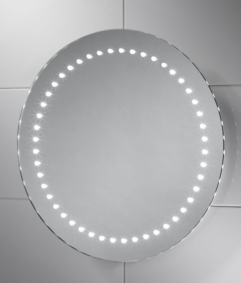 Round 500mm LED Illuminated Bathroom Mirror With IF Sensor And