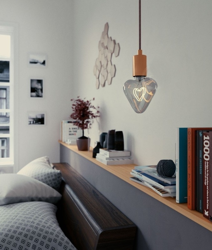 E27 Smoky Grey Led Heart Shape Bulb