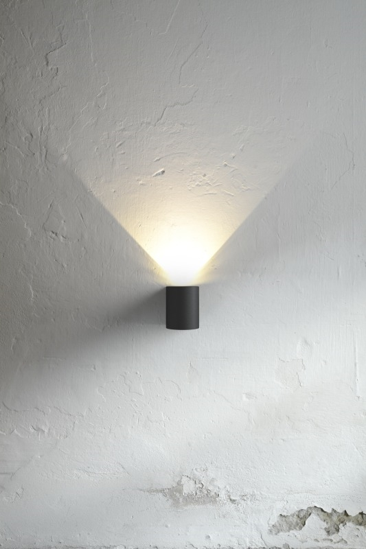 Small White Wall Lights : Very Funky Filtered Wall lights in Five Finishes