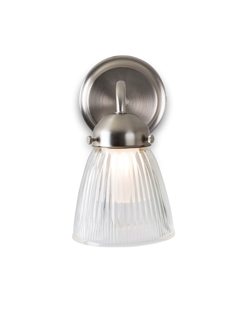 Satin Nickel La Parisienne Bathroom Wall Light With Shade