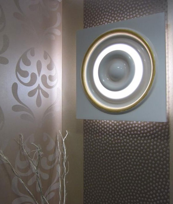 Large Backlit Plaster Wall Panel 650mm square for 55w T5 lamps