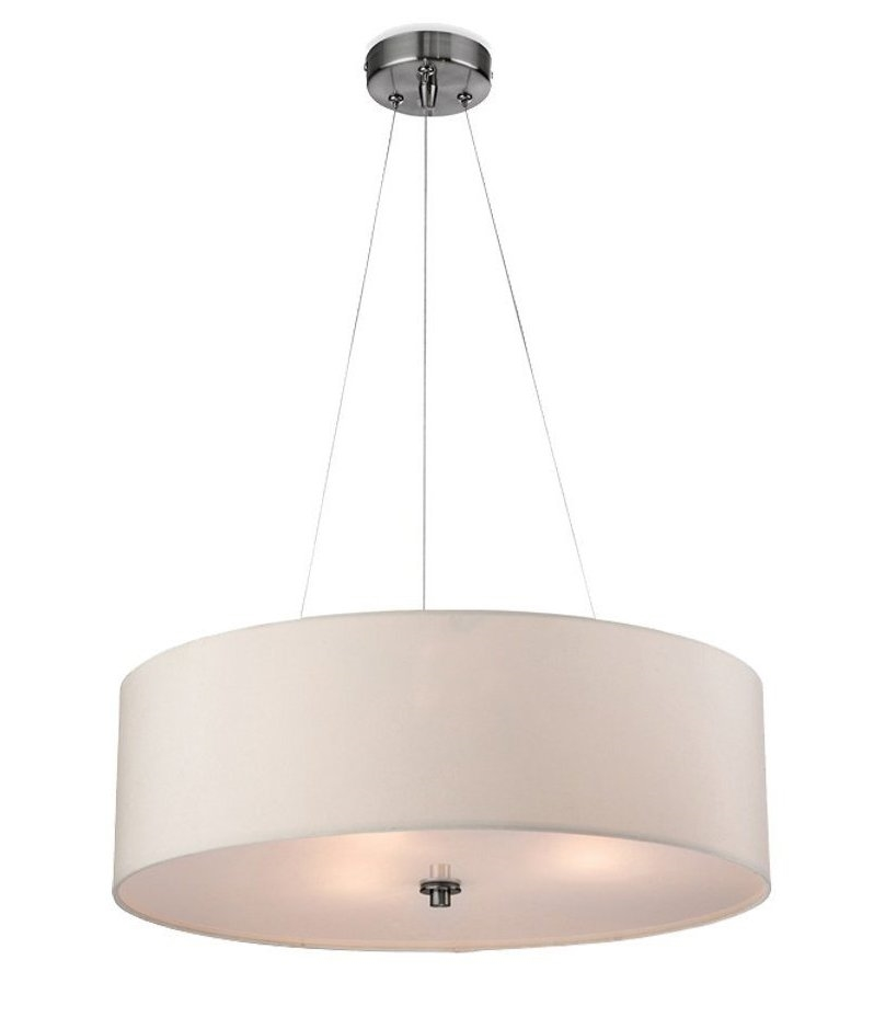Drop Fabric Pendant Light With Diffuser
