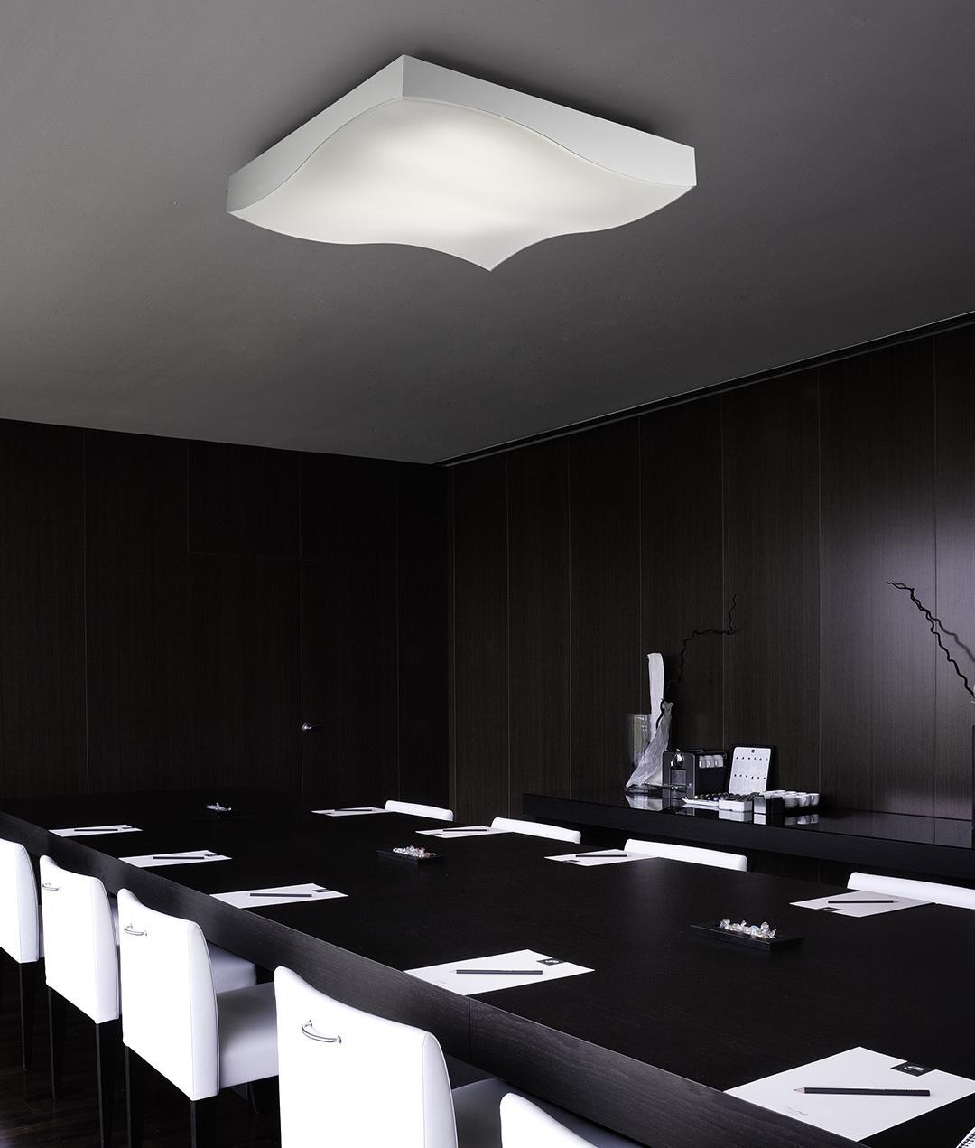 large flush square led ceiling light measuring 800mm. Black Bedroom Furniture Sets. Home Design Ideas