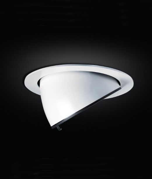 Adjustable Recessed Scoop Downlight White Finish For