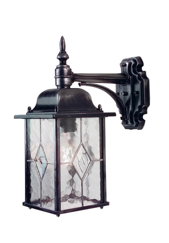 Leaded Glass Hanging Wall Lantern