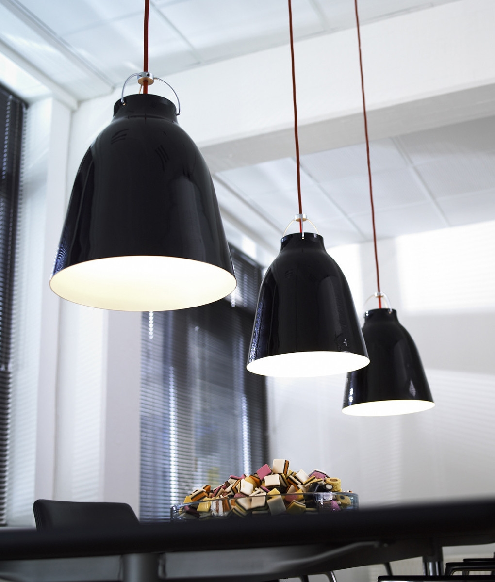 Caravaggio From Lightyears Pendant In Black Gloss Amp Red Flex