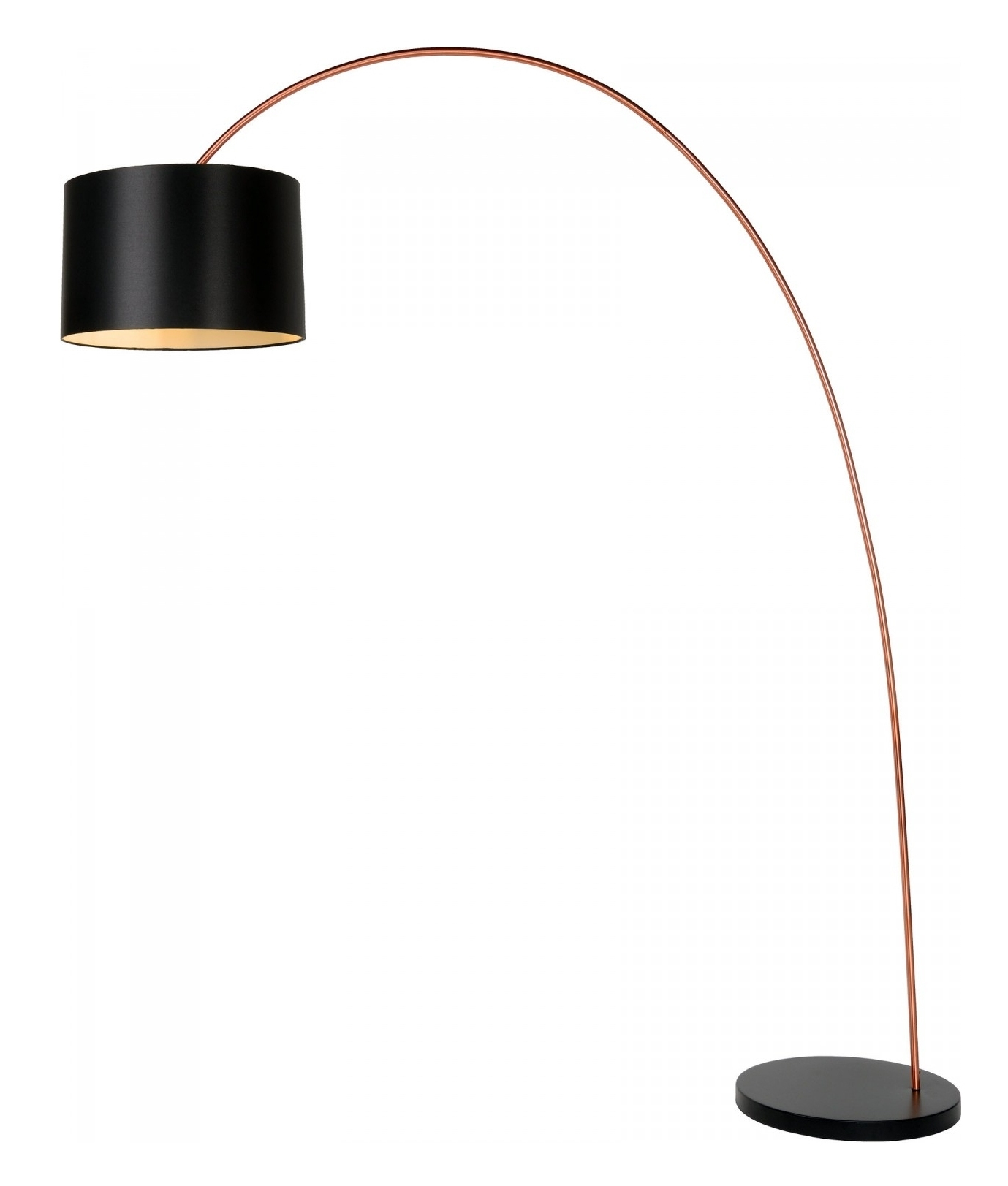 Long Reach Copper and Black Floor Lamp