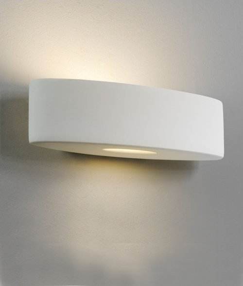 Lozenge Shape Ceramic Wall Uplight W:310mm