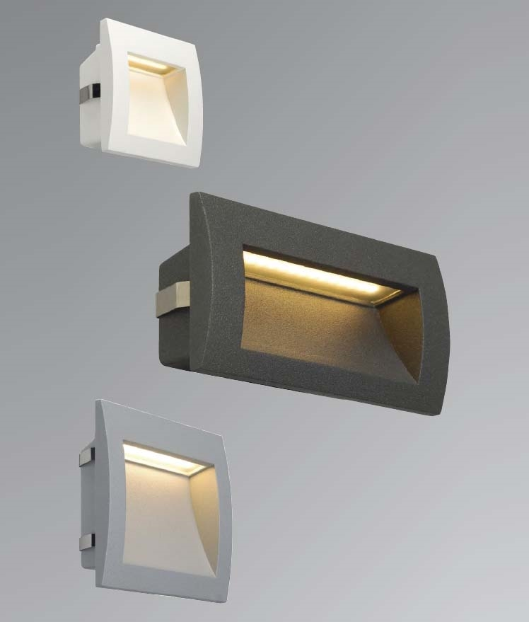 Exterior recessed wall light with leds mains exterior led recessed wall light aloadofball Images