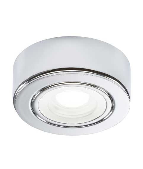 Mains Powered Round Surface Mounted LED Under Cabinet