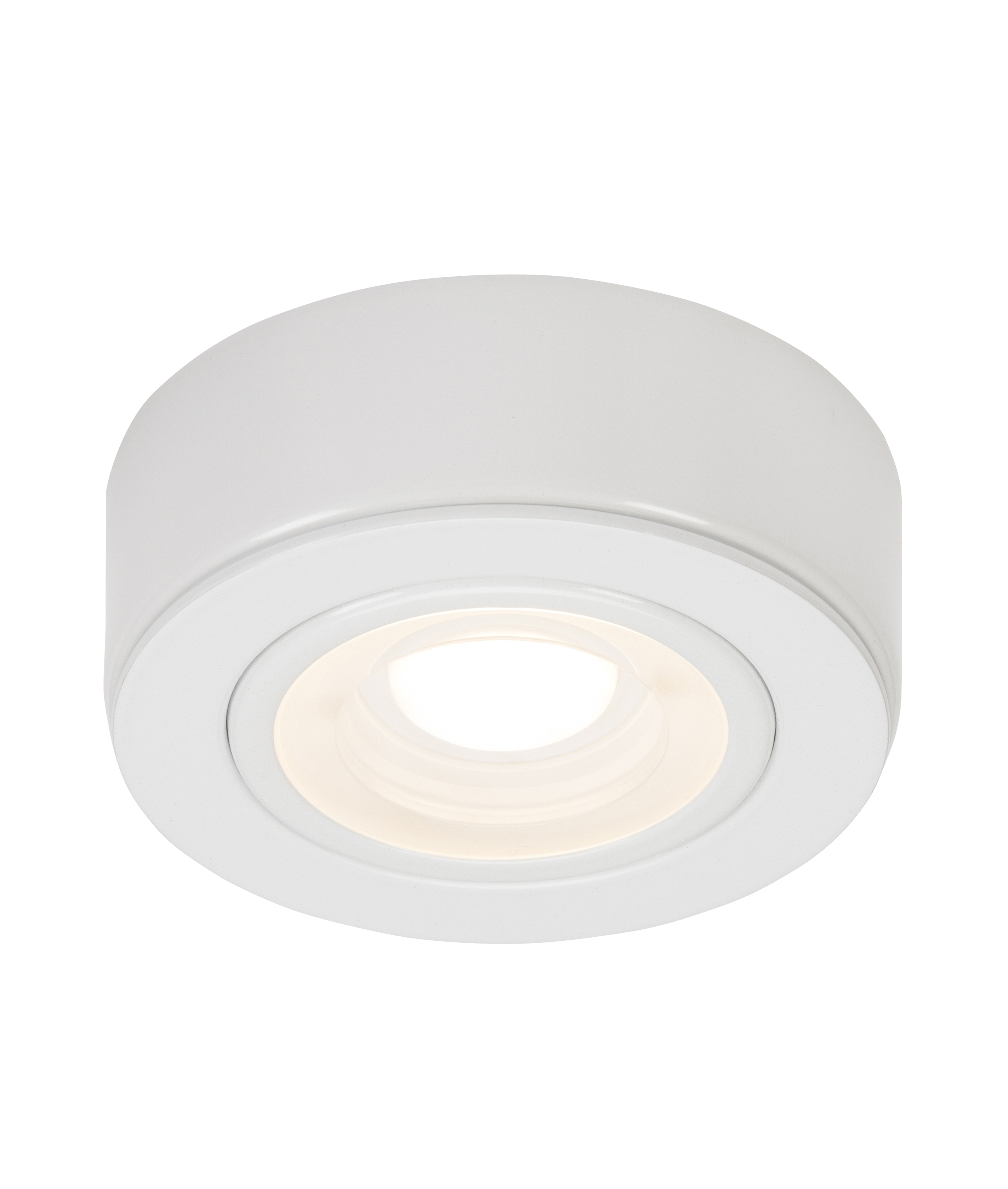 Mains Powered Round Surface Mounted Led Under Cabinet Lights No Transformer Required