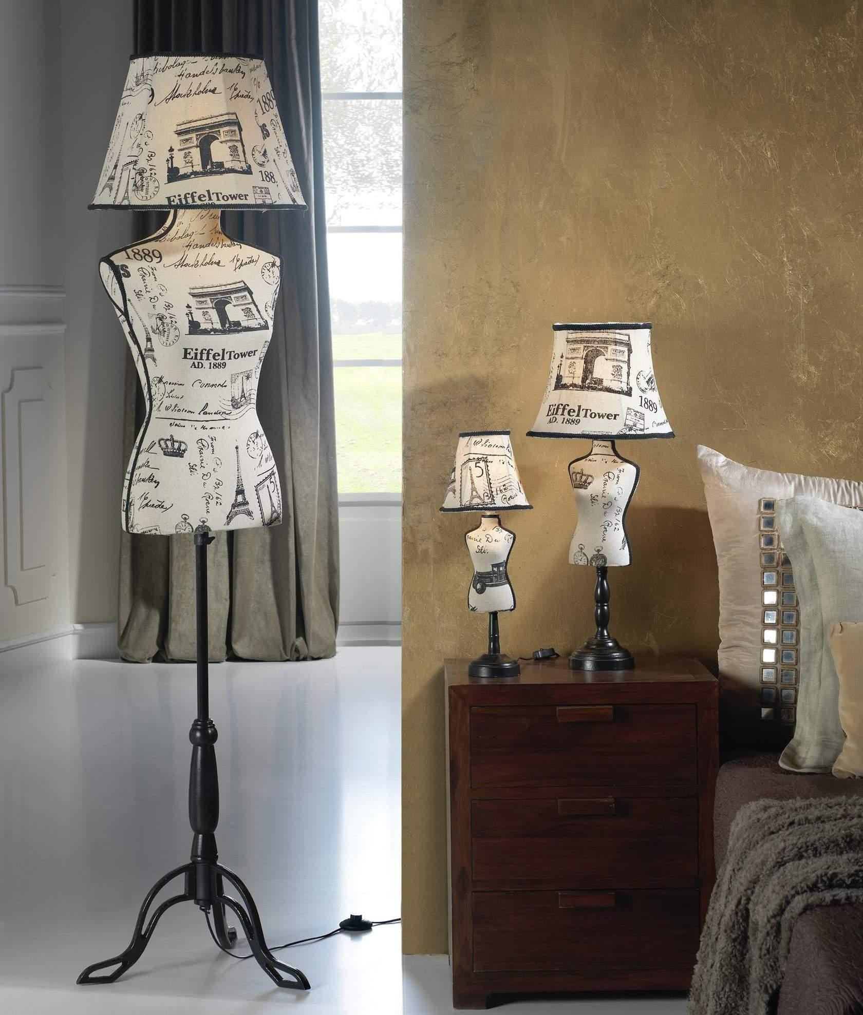 Mannequin Lamp mannequin floor lamp with paris fabric