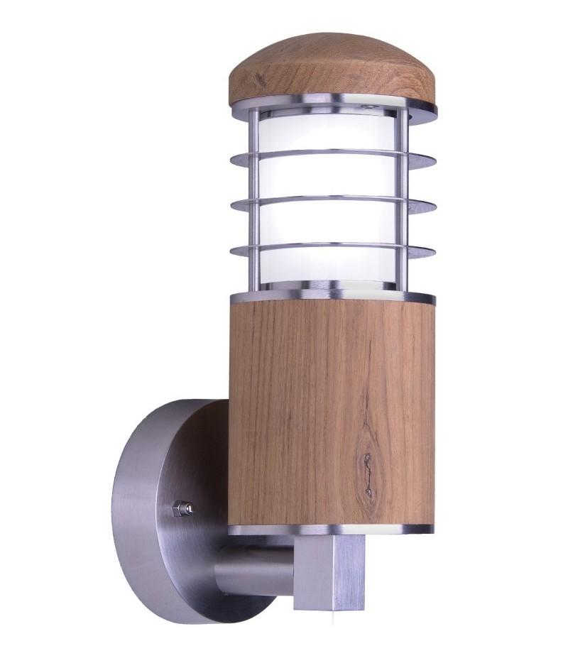 Teak Marine Grade 316 Steel Outdoor Wall Light