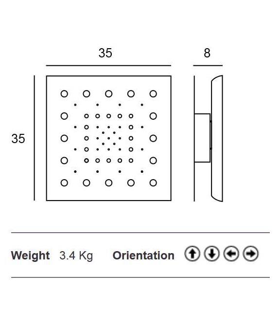 Dot Design Wall Light Medium Square 350mm