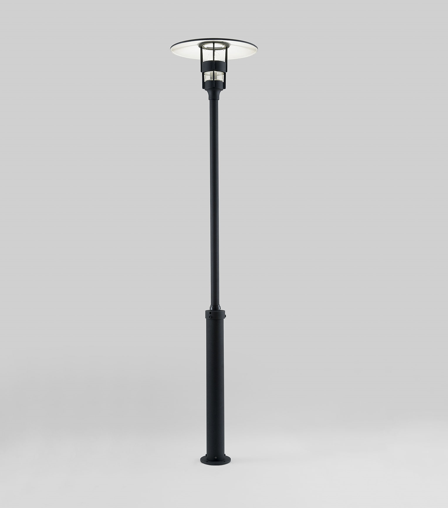 Modern: Modern Lamp Post In Black With Low Glare