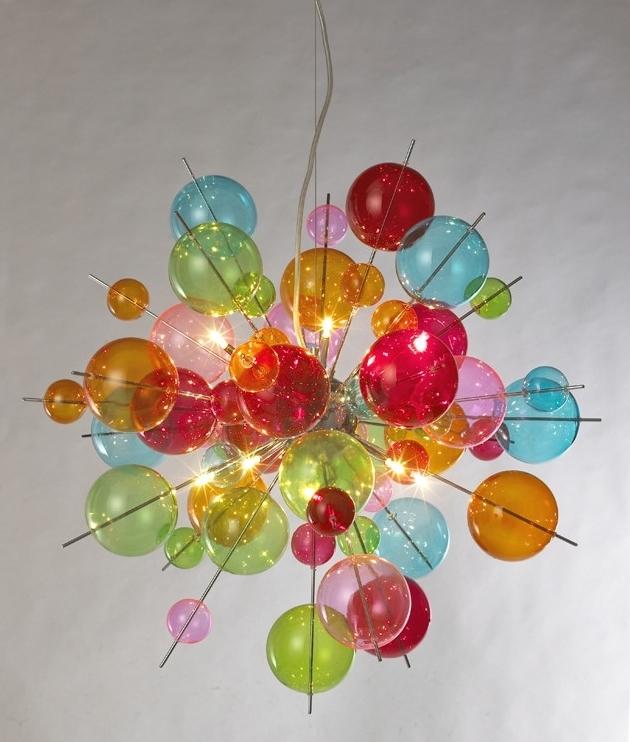 Multi Coloured Bauble Explosion Acrylic Chandelier
