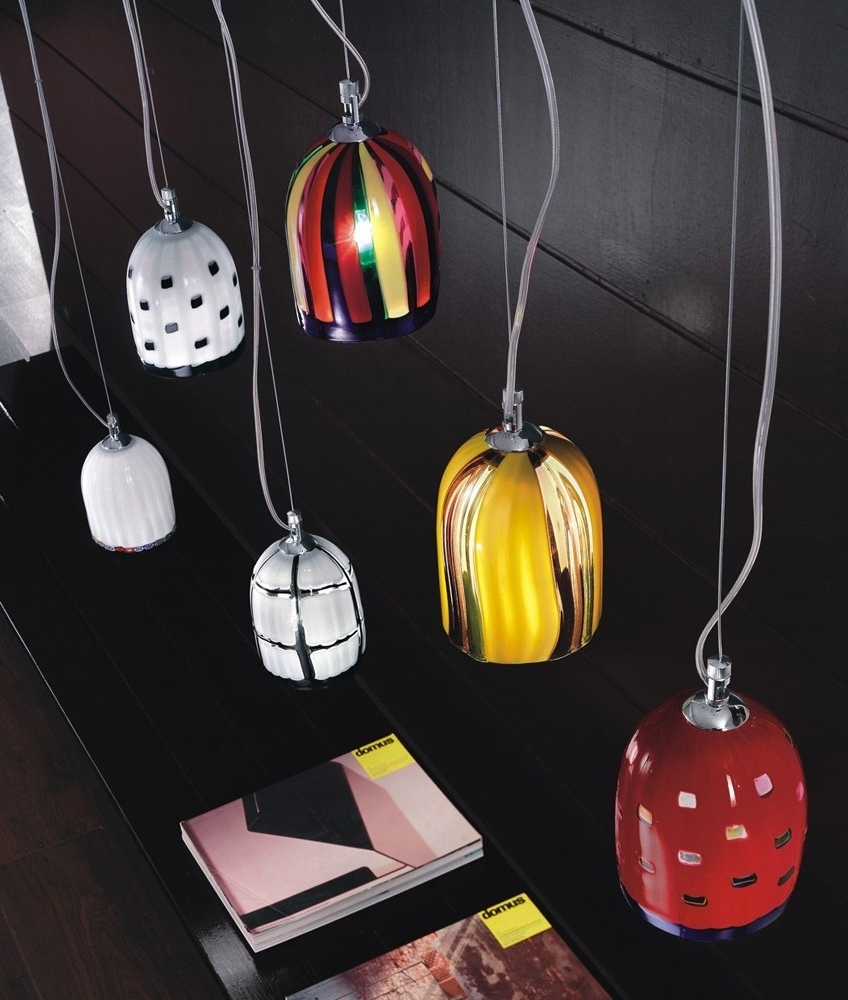 Coloured Glass Pendant Light
