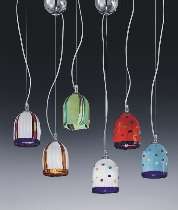 Murano Glass Pendant In Multi Colours