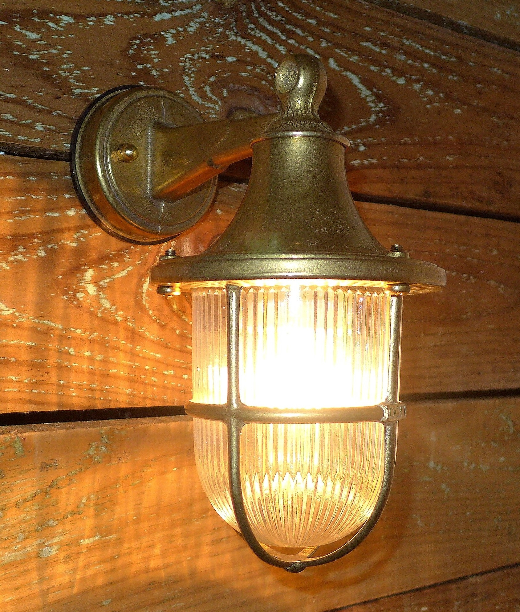 Prismatic Glass Wall Lights : Marine Brass and Prismatic Glass Wall Lantern