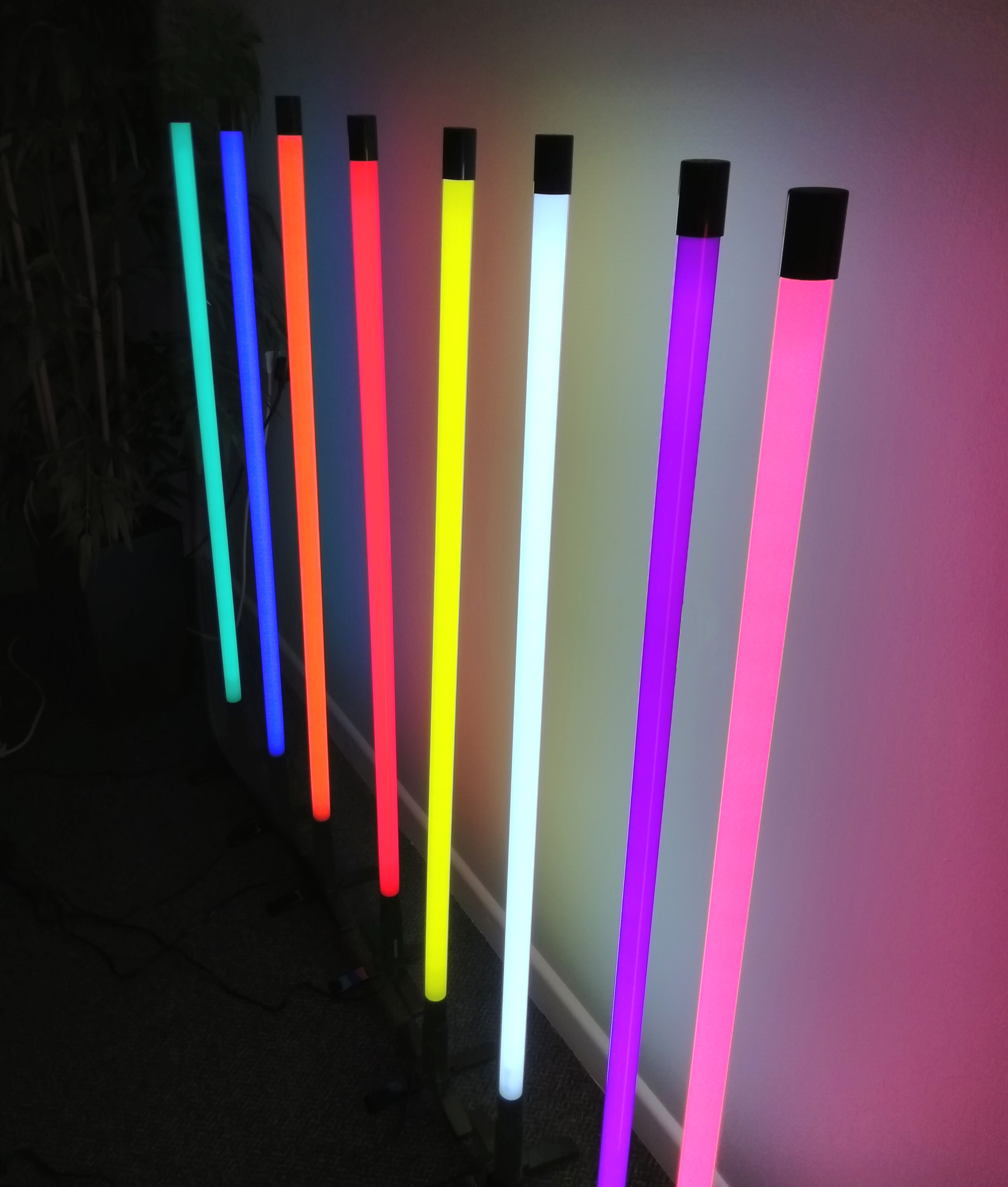 Neon Slim Tube Floor Or Wall Light In Eight Colours