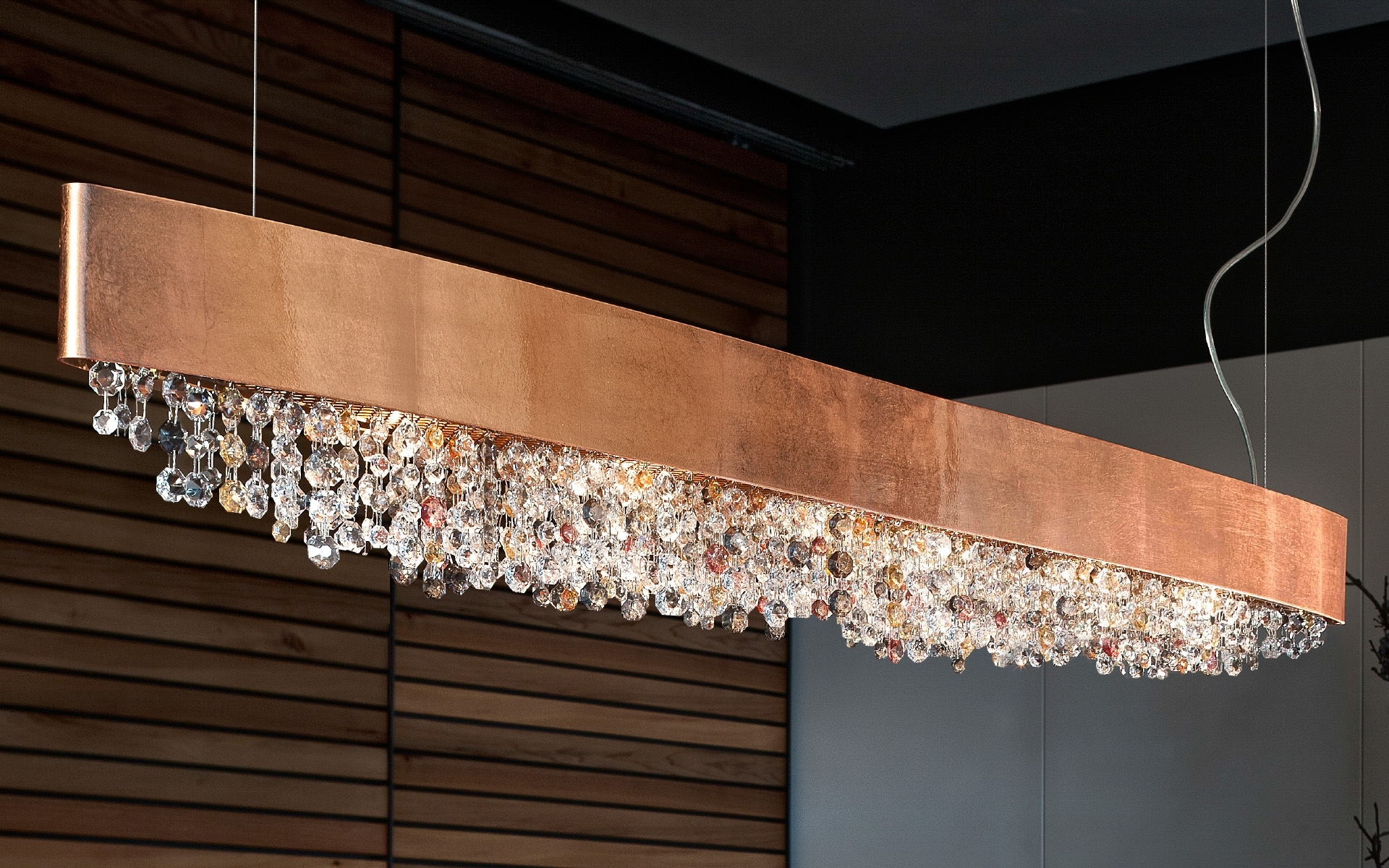 Ola Wide Crystal Suspension Pendant